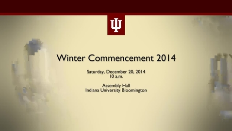 Thumbnail for entry Winter Commencement