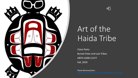Thumbnail for entry ClaireParks: Art of the Haida Tribe
