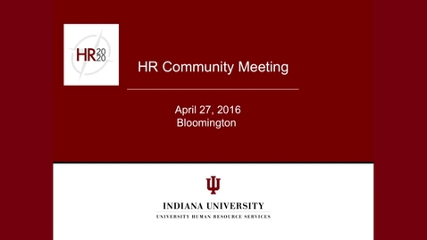 Thumbnail for entry IU HR2020 Survey Results Workshop