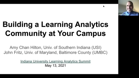 Thumbnail for entry Building a Learning Analytics Community