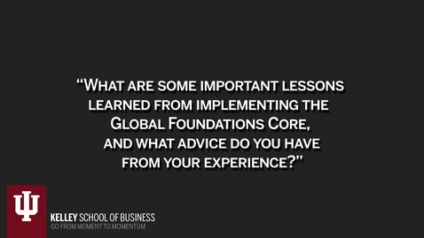 Thumbnail for entry CIBER Pedagogy: Global Foundations Core Series: Lessons Learned