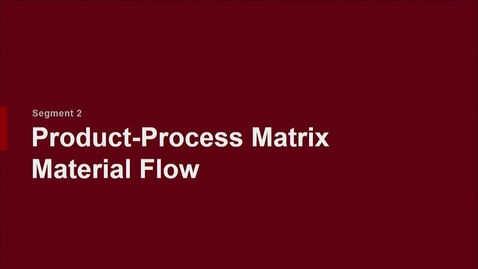 Thumbnail for entry P200 03-2 Product-Process Matrix: Material Flow