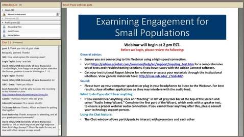 Thumbnail for entry Examining Engagement for Small Populations