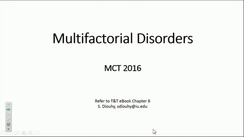 Thumbnail for entry IN MCT 11/15/2016: Multifactorial Disorders and Ethanol Metabolism