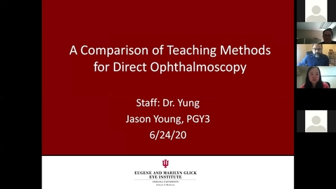 Thumbnail for entry A comparison of teaching methods for direct ophthalmoscopy