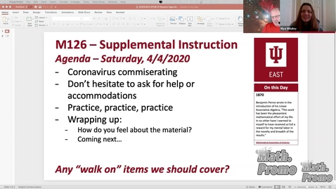 Thumbnail for entry SP20 M126 Supplemental Instruction Module 4 Session 5