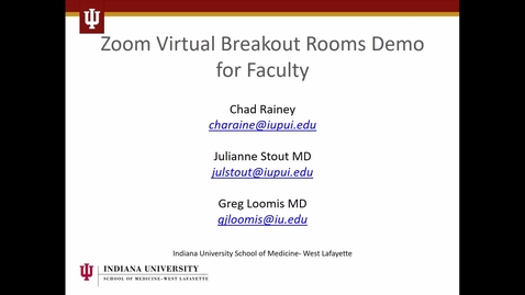 Thumbnail for entry Setting up Breakout Rooms in Zoom - Host View