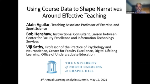 Thumbnail for entry Using Course Data to Shape Narratives Around Effective Teaching