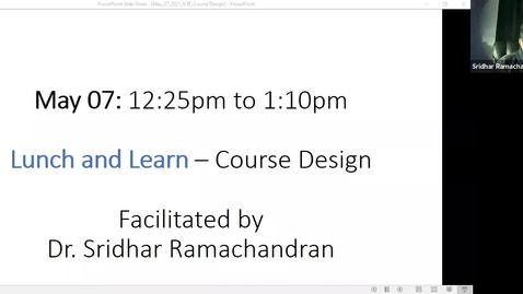 Thumbnail for entry Course Design