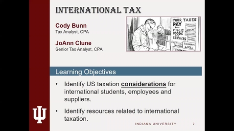 Thumbnail for entry Summer Tax Training Series 2019 - International Tax