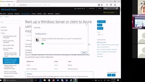 Thumbnail for entry Azure Backup January 11 2017