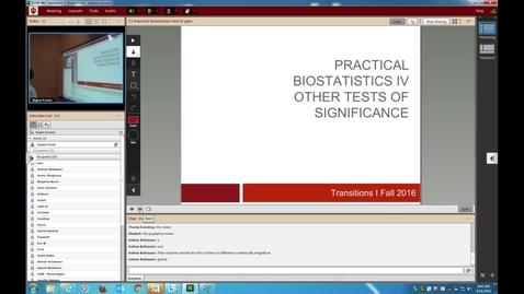 Thumbnail for entry WL | Transitions I Prac Biostats IV 160816 Kreisle
