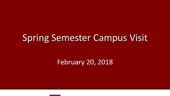 2018 Financial Aid Spring Semester Campus Visits