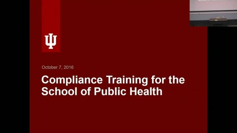 Thumbnail for entry SPH-B Employee Compliance Training for October 2016.