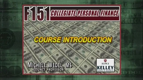 Thumbnail for entry F151 Course Introduction