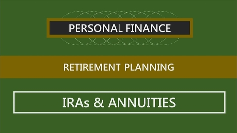 Thumbnail for entry F260 14-3 IRAs & Annuities
