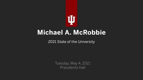 Thumbnail for entry State of the University 2021
