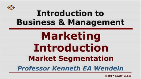 Thumbnail for entry W200 15-3 Market Segmentation