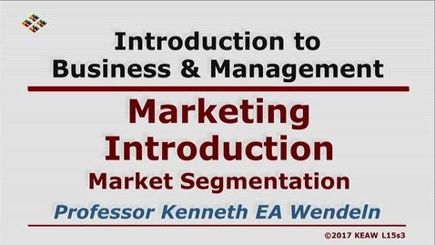 Thumbnail for entry W200 15-3 Market Segmentation