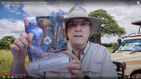 Thumbnail for entry Video Safari of Euclid's Elements: Book 1 Proposition 3