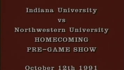 Thumbnail for entry 1991-10-12 vs Northwestern - Pregame (Homecoming)
