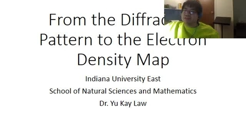 Thumbnail for entry Diffraction Pattern to Electron Density Map
