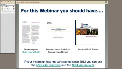 Thumbnail for entry Increase dissemination and discussion of results: Introducing the NSSE Data User's Guide