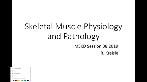 Thumbnail for entry IUSM WL Skeletal Muscle Pathology Kreisle 012219