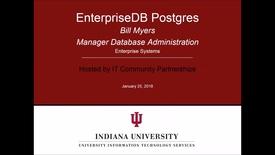 Thumbnail for entry EnterpriseDB Postgres Infoshare January 25, 2018
