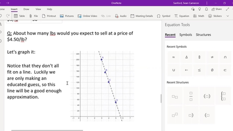 Thumbnail for entry Alg 2.3: A Sales Example