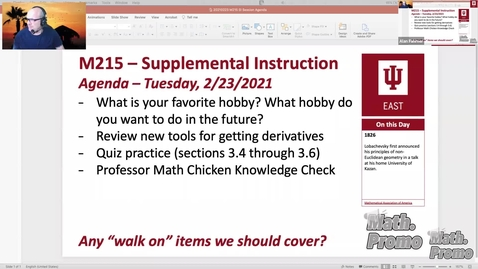 Thumbnail for entry SP21 M215 Week 6 Session 1 - Sections 3.4-3.6 Quiz Prep