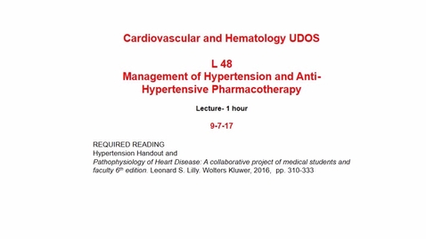Thumbnail for entry IUSM-FW CH L48 Anti Hypertensive Therapy 2017 Sep 08 10:49:20