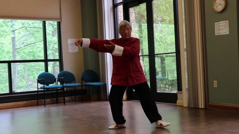 Thumbnail for entry Jenny Yang Demonstrating Tai Chi at Brown County Public Library (Nashville, IN)
