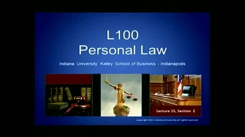 Thumbnail for entry L100 Lecture 15, Section 2:  Getting Your Affairs in Order