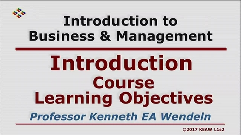 Thumbnail for entry X100 01-2 Course Learning Objectives
