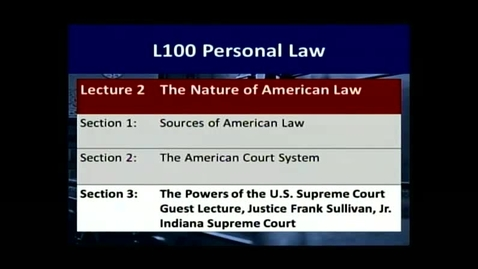 Thumbnail for entry L100 02-3 The Powers of the Supreme Court