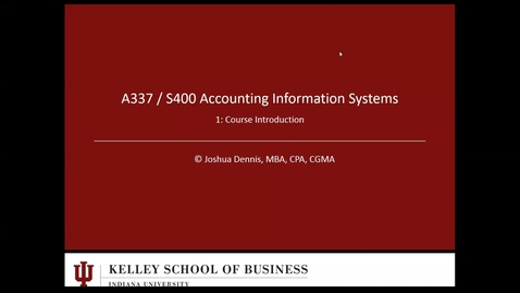 Thumbnail for entry A337 S400 Lecture 1 Fall 2017