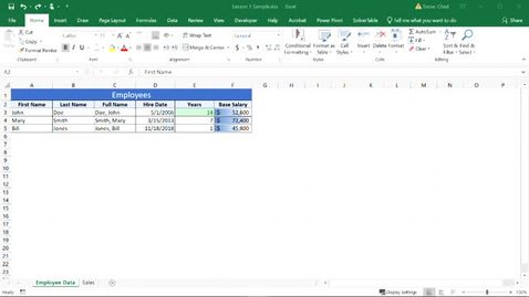 Thumbnail for entry Excel Workspace Overview