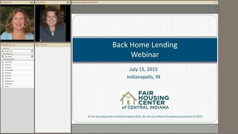Thumbnail for entry Back Home in Indiana Alliance Webinar Lending