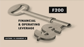 Thumbnail for entry F200_Lecture 10_Segment 2: Financial & Operating Leverage