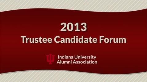 Thumbnail for entry 2013 Trustee Candidate Forum