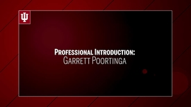 Thumbnail for entry Garrett Poortinga - Professional Introduction