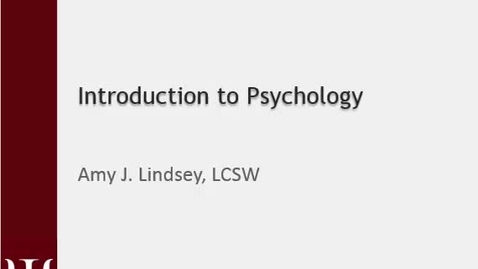 Thumbnail for entry AJL Intro to Psych