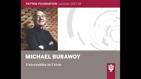 Thumbnail for entry Patten Lecture Series: Michael Burawoy