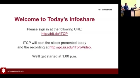 Thumbnail for entry IU Fax Infoshare 6 Dec 2018