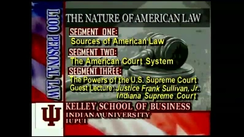 Thumbnail for entry L100 02-1 Sources of American Law
