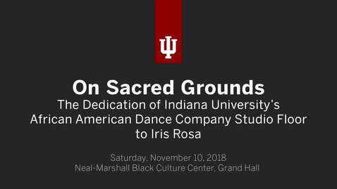 Thumbnail for entry African American Arts Institute Dance Floor Dedication and Tribute to Iris Rosa