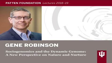 Thumbnail for entry Patten Lecture: Gene Robinson