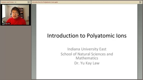 Thumbnail for entry Introduction to Polyatomic Ions
