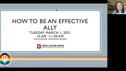 Thumbnail for entry Training Workshop: How To Be An Effective Ally, 3/2/2021